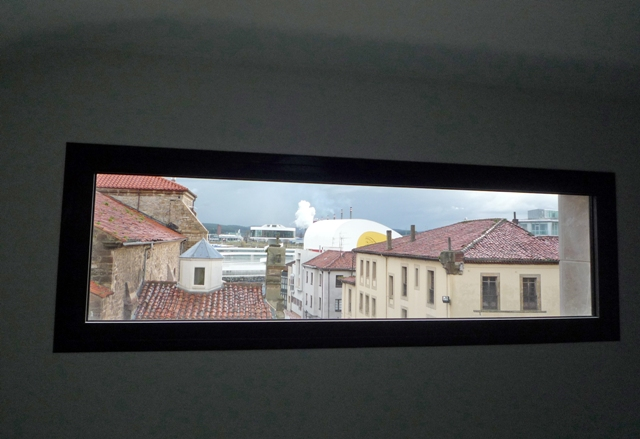 Vistas del Centro Niemeyer desde la planta tercera