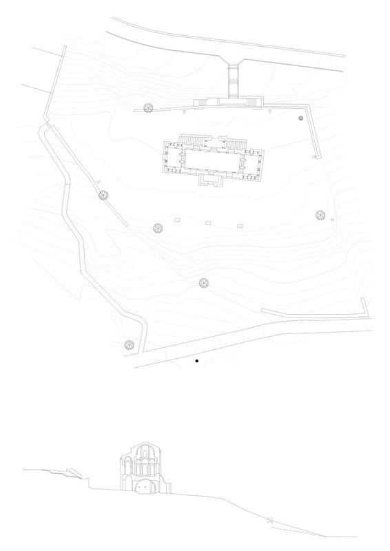 Santa María planta y sección