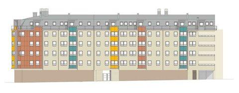 Cuenca Hevia - EDIFICIO PARA 98 VIVIENDAS, LOCALES, TRASTEROS Y GARAJE EN OVIEDO - Arquitectos Cosme Cuenca Y Jorge Hevia S.L.P.